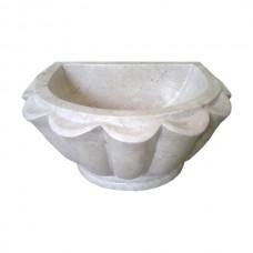 Мраморная курна AFHK-64 45х35х25 белая
