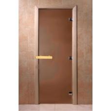Дверь 2100*700 Aldo стекло бронза, (коробка кедр), ручка магнит