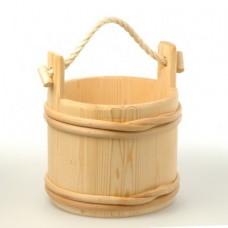 Шайка SaunaSet 7 л сосна традиционная (231)