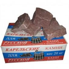 Малиновый кварцит колотый-коробка 20 кг