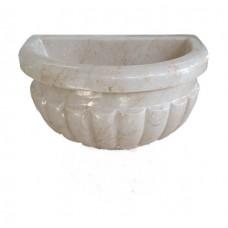 Мраморная курна AFHK-63 45х30х20 белая