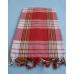Пештамаль (полотенце) PL-001, цвет красный