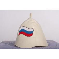 """Шапка банная """"Российский флаг"""""""