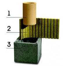 Основание дымохода Шидель с вентиляцией 3пм д16L
