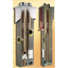 Верхний комплект дымохода Шидель с вентиляцией (изоляция) д15