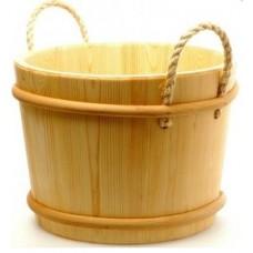 Ведро С-С SaunaSet 12 л сосна  ручки из бечевы (257)